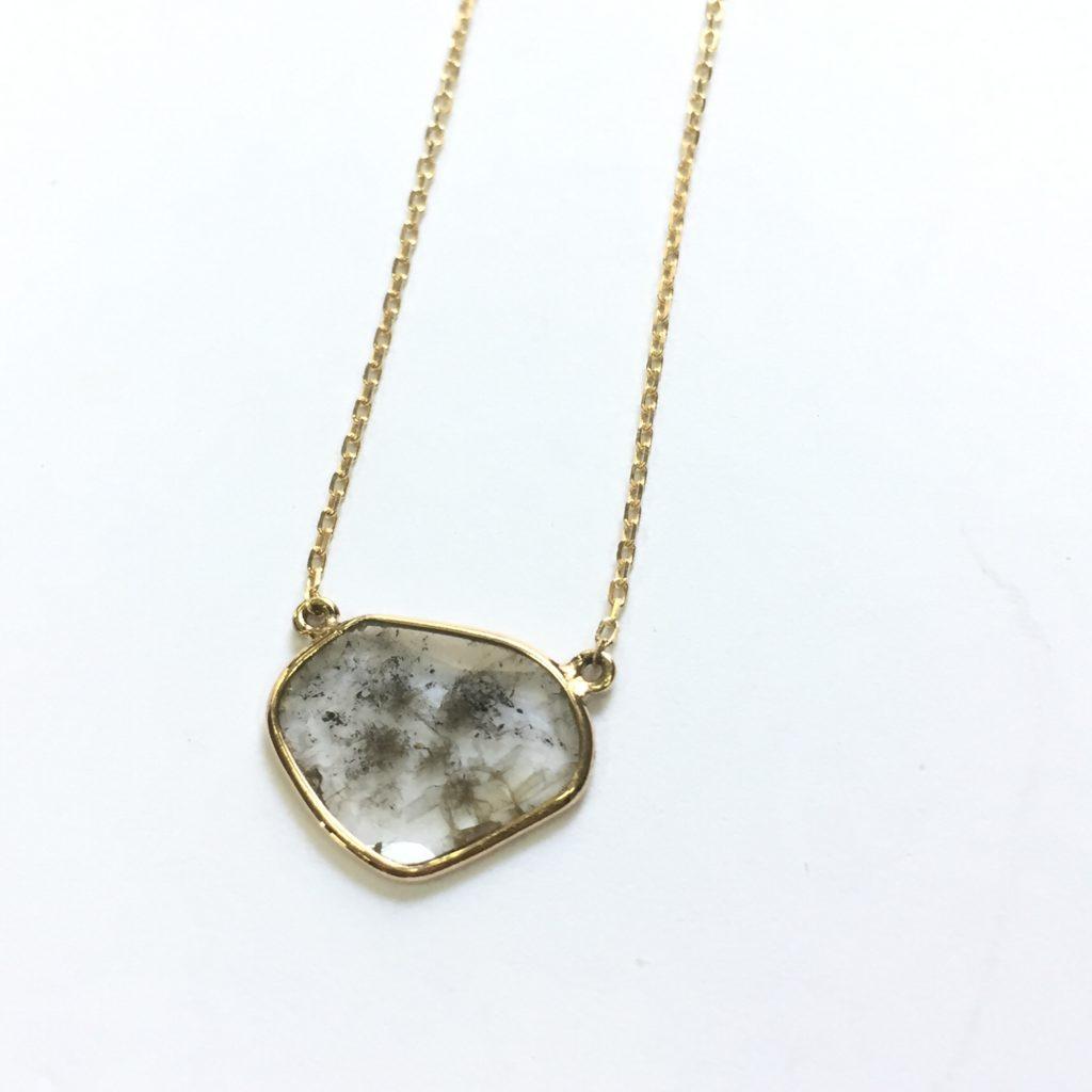 スライスダイヤモンドネックレス